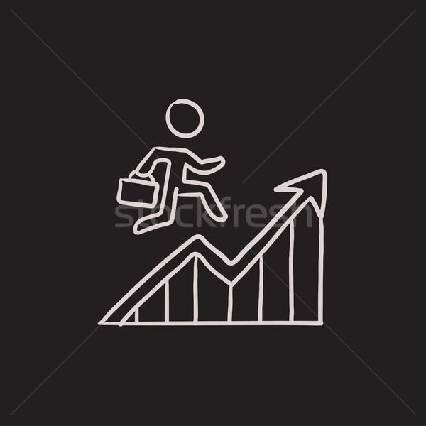 Finanziaria guarigione sketch icona vettore isolato Foto d'archivio © RAStudio