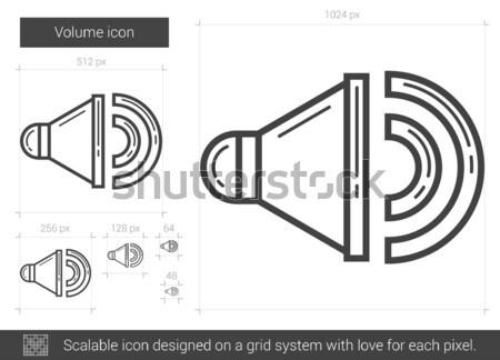 ボリューム 行 アイコン ベクトル 孤立した 白 ストックフォト © RAStudio
