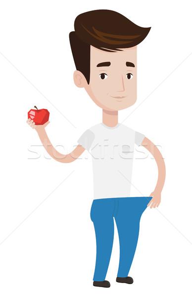 Esbelto homem calças resultados dieta Foto stock © RAStudio