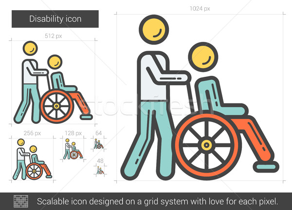 Disability line icon. Stock photo © RAStudio