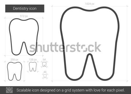 Odontologia linha ícone vetor isolado branco Foto stock © RAStudio