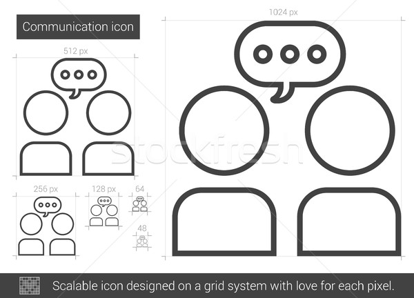 Communication line icon. Stock photo © RAStudio