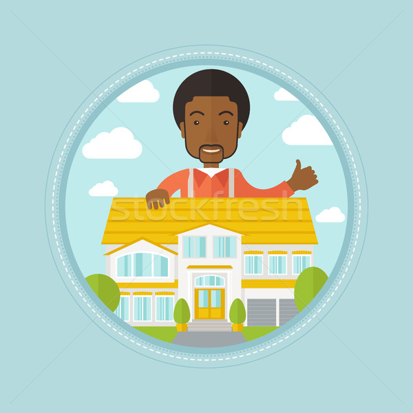 Real estate agent giving thumb up. Stock photo © RAStudio