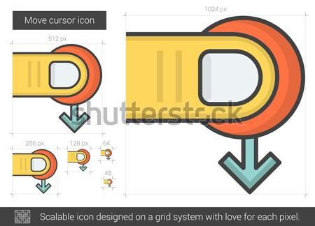 Move cursor line icon. Stock photo © RAStudio