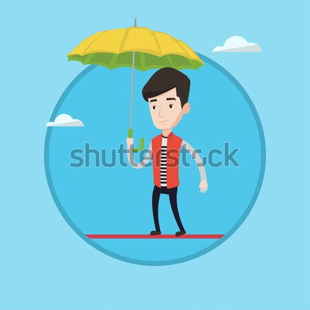 страхования агент зонтик кавказский Постоянный Сток-фото © RAStudio