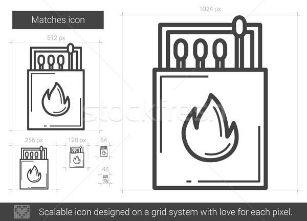Matches line icon. Stock photo © RAStudio
