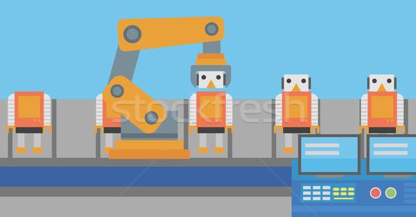 ロボットの 生産 行 おもちゃ 工場 おもちゃ ストックフォト © RAStudio