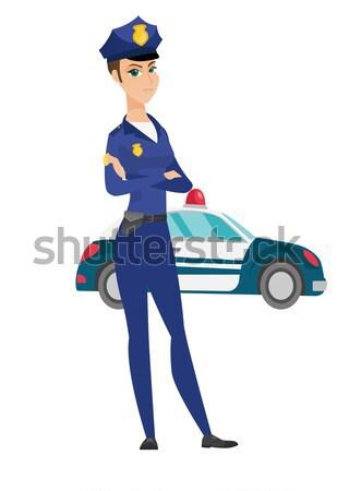 Tráfico policía mujer escrito proyecto de ley caucásico Foto stock © RAStudio