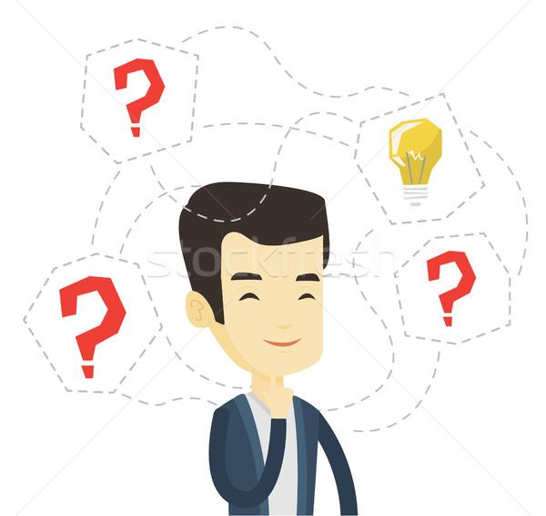 ストックフォト: アジア · ビジネスマン · ビジネス · アイデア · 創造 · 立って