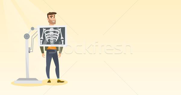 пациент рентгеновский процедура молодые кавказский человека Сток-фото © RAStudio