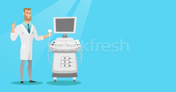 Giovani ultrasuoni medico operatore macchina Foto d'archivio © RAStudio