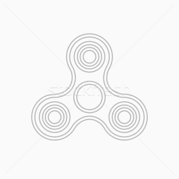 Fidget spinner thin line vector icon. Stock photo © RAStudio