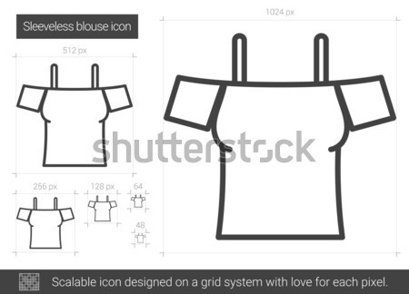 Sleeveless blouse line icon. Stock photo © RAStudio