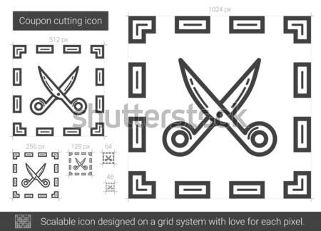 Hat ikon vektör yalıtılmış Stok fotoğraf © RAStudio