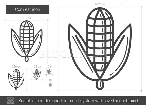 Corn ear line icon. Stock photo © RAStudio