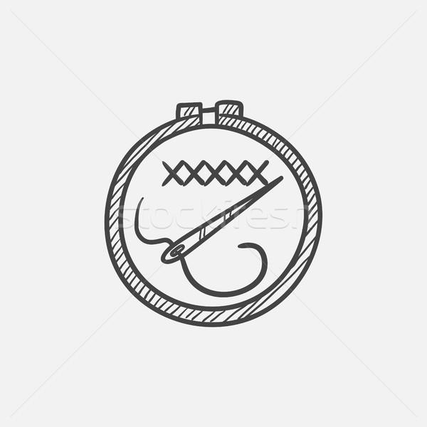刺繍 スケッチ アイコン ウェブ 携帯 インフォグラフィック ストックフォト © RAStudio