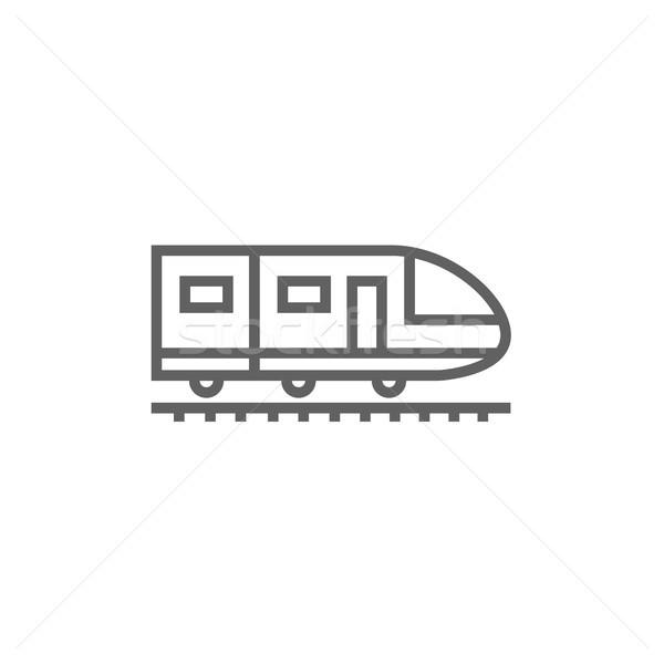 Modernes à grande vitesse train ligne icône Photo stock © RAStudio