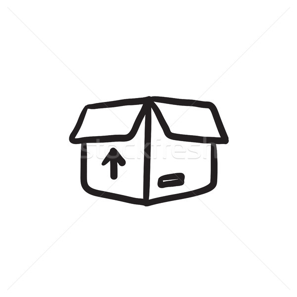 カートン パッケージ ボックス スケッチ アイコン ベクトル ストックフォト © RAStudio