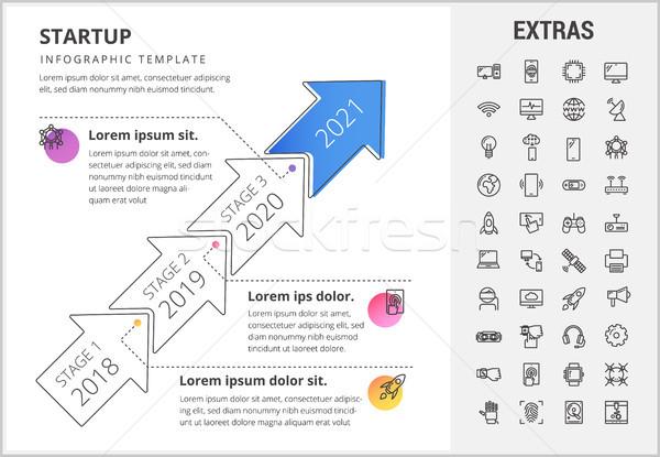 Inicio infografía plantilla elementos iconos Foto stock © RAStudio