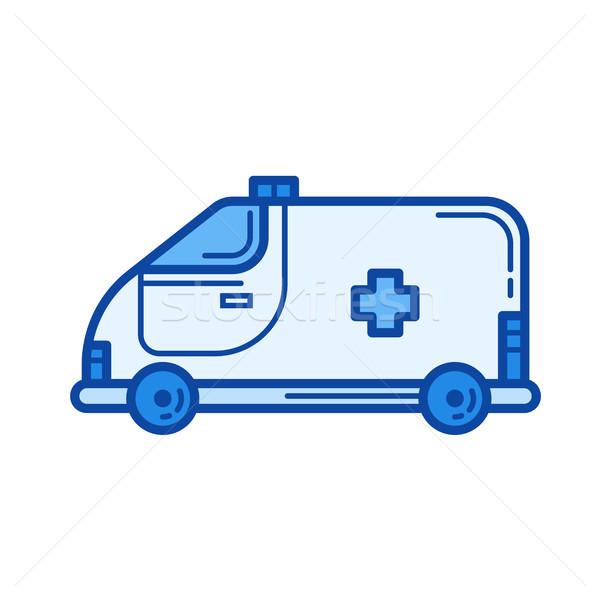 Ambulance voiture ligne icône vecteur isolé Photo stock © RAStudio