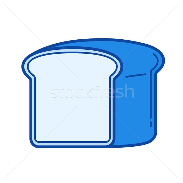 Pirítós kenyér vonal ikon vektor izolált Stock fotó © RAStudio
