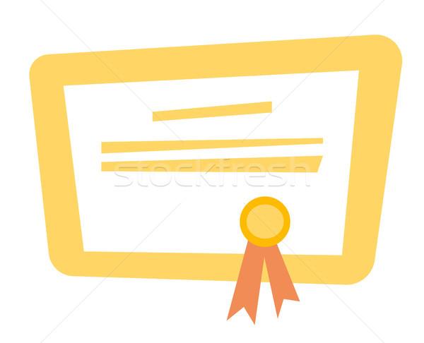 сертификата диплом вектора Cartoon иллюстрация завершение Сток-фото © RAStudio
