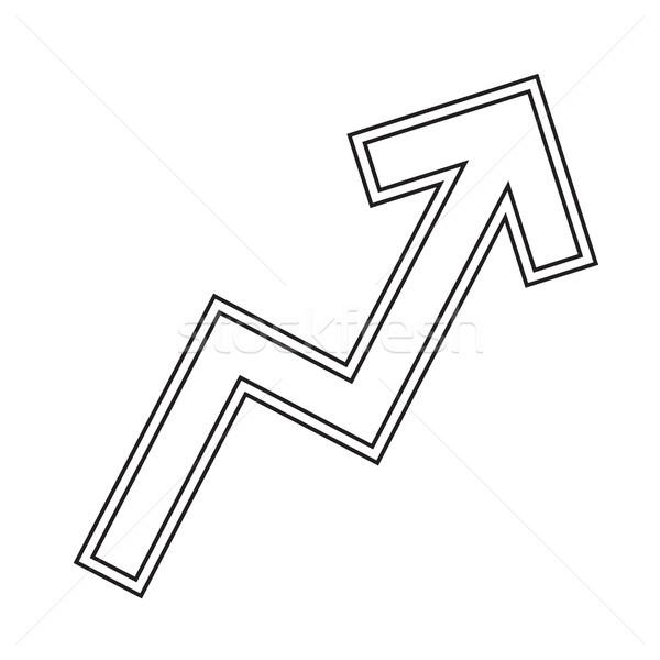 Zig-zag arrow grafico vettore line icona Foto d'archivio © RAStudio