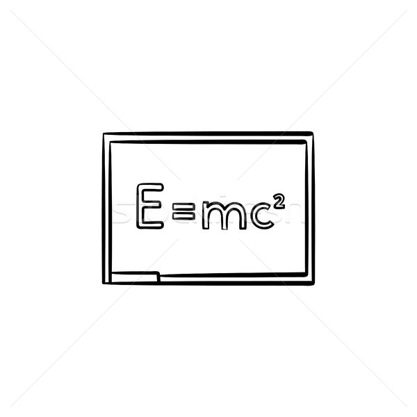E equal mc 2 hand drawn sketch icon. Stock photo © RAStudio