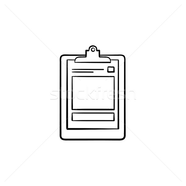 Medical record hand drawn outline doodle icon. Stock photo © RAStudio