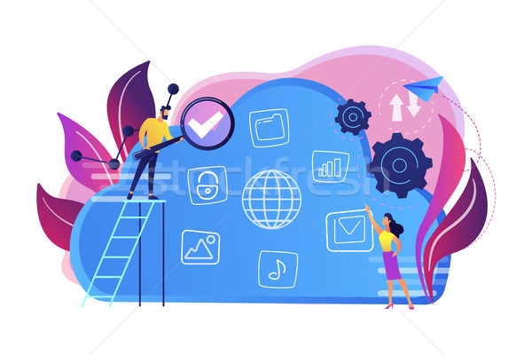 Big data concept vector illustration. Stock photo © RAStudio