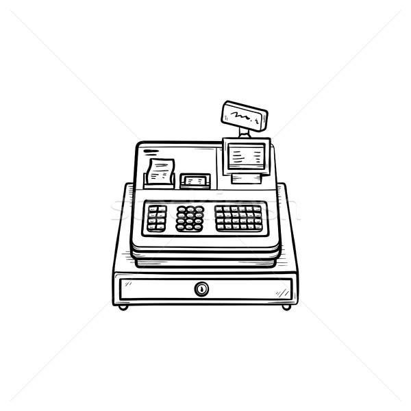 Cash register hand drawn outline doodle icon. Stock photo © RAStudio
