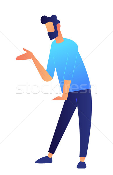 Manager standing and demonstrating vector illustration. Stock photo © RAStudio