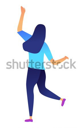 Successful business woman dancing vector illustration. Stock photo © RAStudio