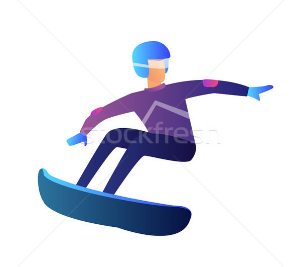 Snowboarder vector illustration. Stock photo © RAStudio