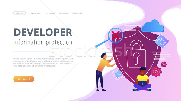 Cloud computing security concept vector illustration. Stock photo © RAStudio