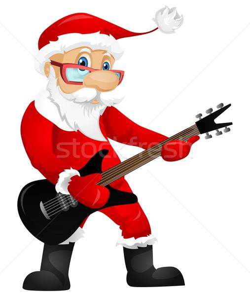 Święty mikołaj odizolowany szary gradient rock star Zdjęcia stock © RAStudio