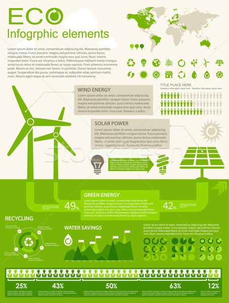 ECO Infographic elements Stock photo © RAStudio