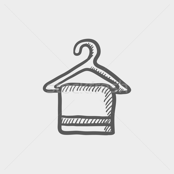 Towel on hanger sketch icon Stock photo © RAStudio