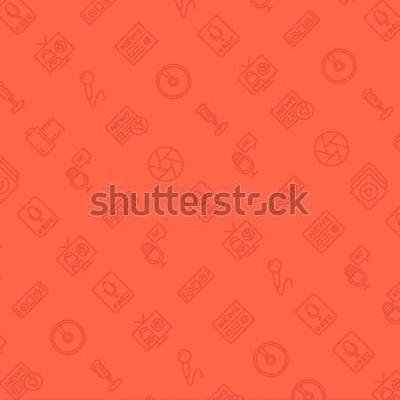 Vetor praça monocromático música ícones textura Foto stock © RAStudio