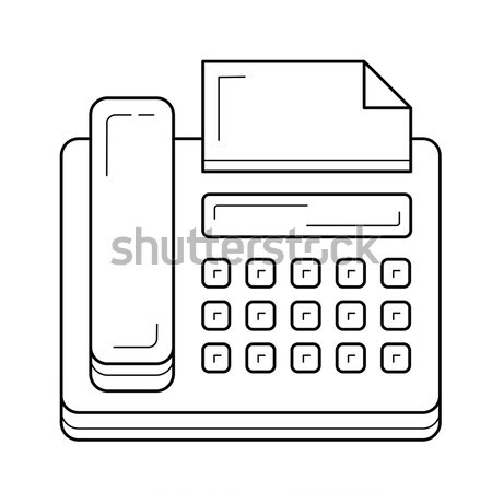 Télécopieur icône craie dessinés à la main tableau noir Photo stock © RAStudio