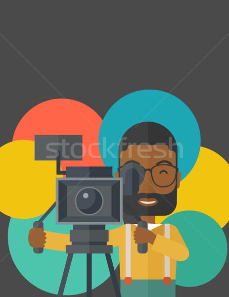 Cameraman. Stock photo © RAStudio