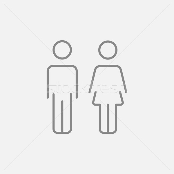 Couple line icon. Stock photo © RAStudio