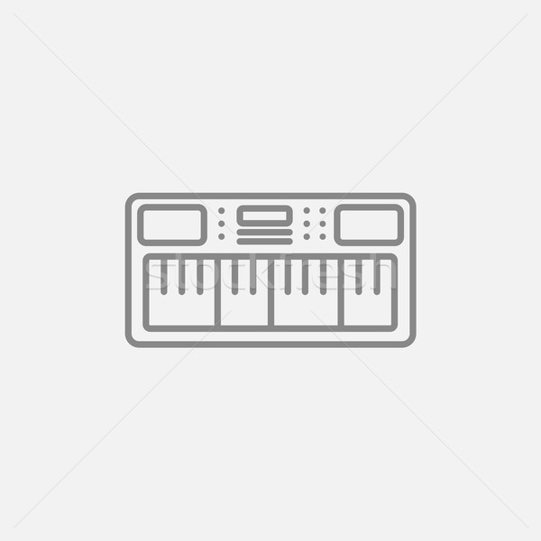 Synthesizer line icon. Stock photo © RAStudio