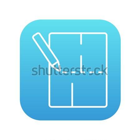 レイアウト 家 行 アイコン ウェブ 携帯 ストックフォト © RAStudio