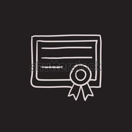 Certificato line icona web mobile infografica Foto d'archivio © RAStudio