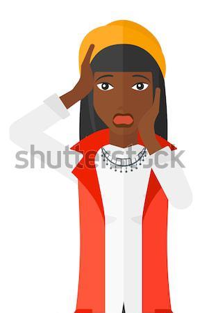 страшно женщину открытых рот вектора дизайна Сток-фото © RAStudio