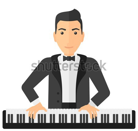 Man playing piano. Stock photo © RAStudio