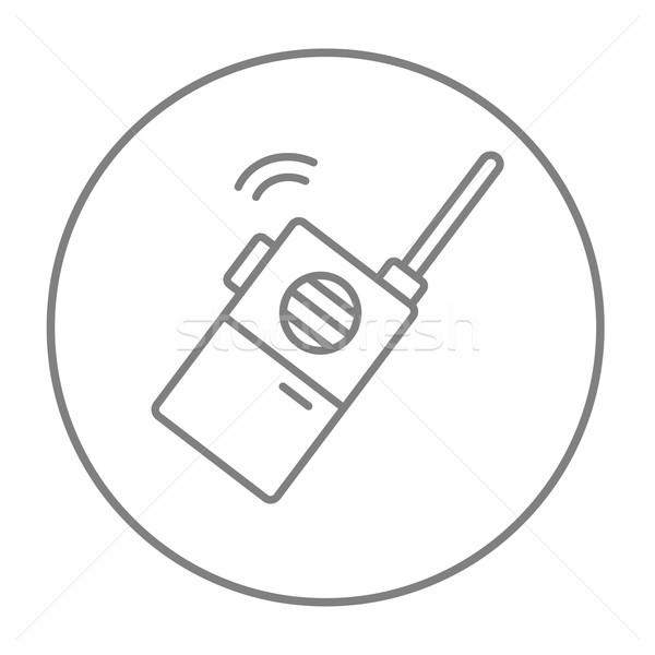 Portatile radio set line icona web Foto d'archivio © RAStudio