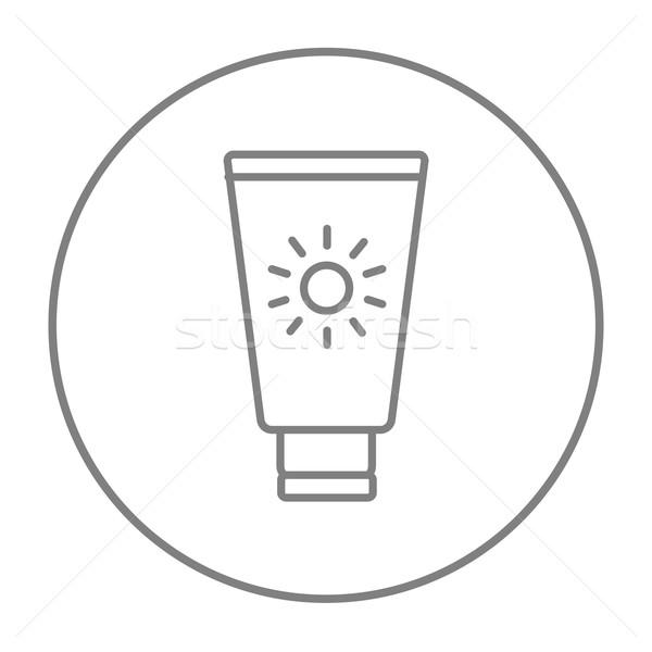 Protector solar línea icono web móviles infografía Foto stock © RAStudio