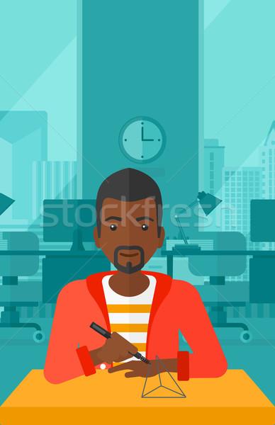 человека три пер модель 3D Сток-фото © RAStudio
